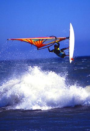 Windsurfer Airborne