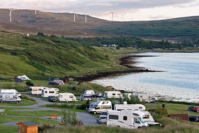 Camping, on Loch Greshornish
