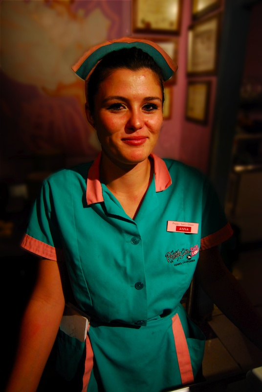 Our Waitress At Peggy Sues 50s Diner