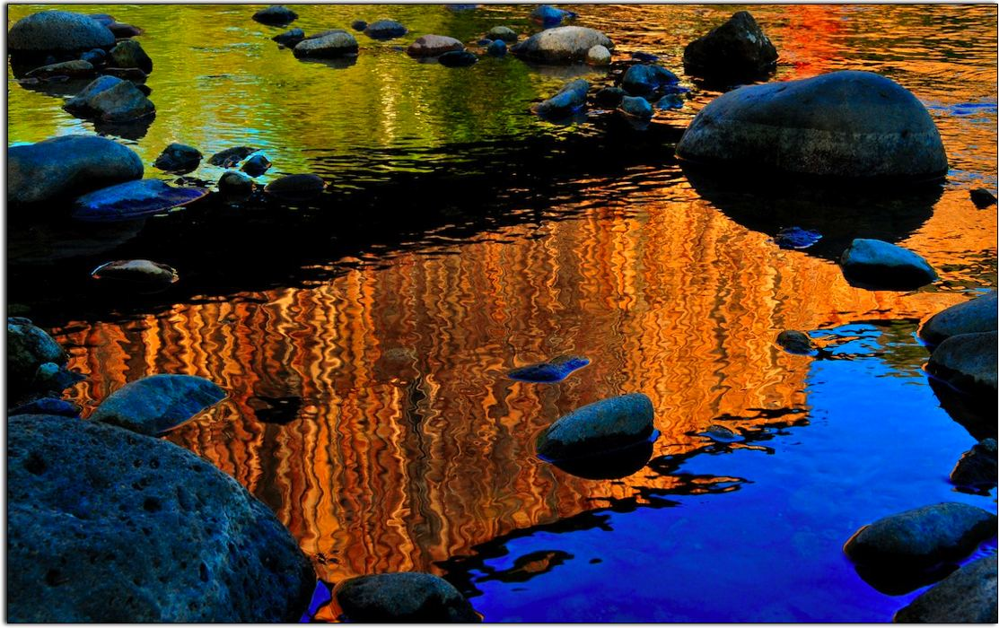 Covered Bridge in Reflection, Butte Creek