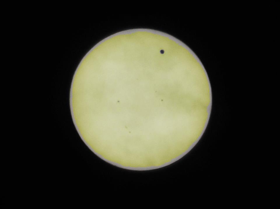 The Transit of Venus (Plus Sunspots!) - from Sunny Portland!