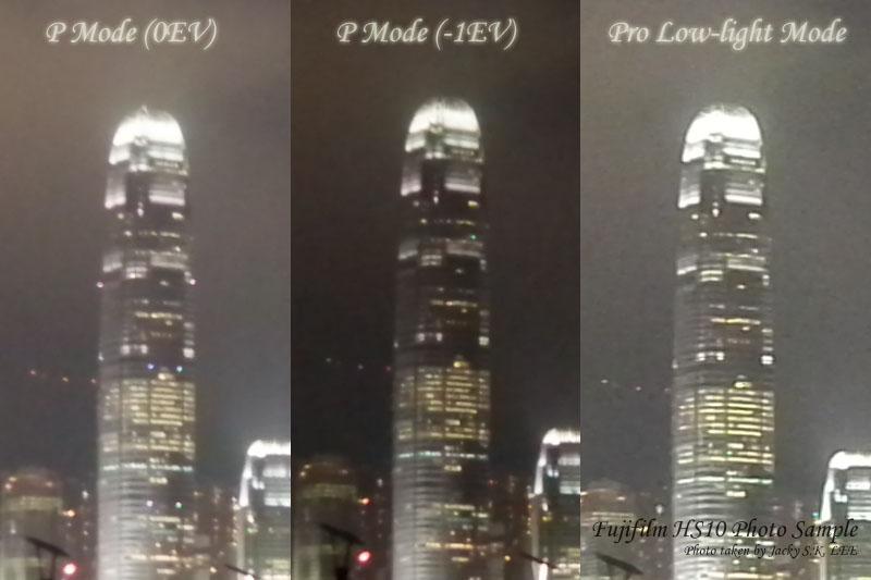 100% crop comparison (sharpest image in Pro-low Light Mode again)
