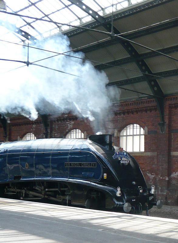 Sir Nigel Gresley Steam Locomotive Passing Through Darlington Station