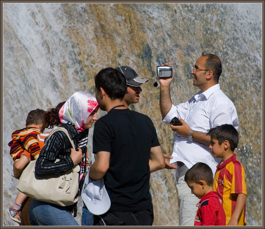 In the Muradiye waterfall