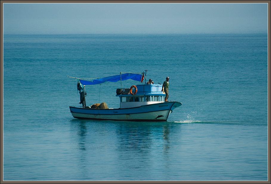 A fisherman in the Black Sea