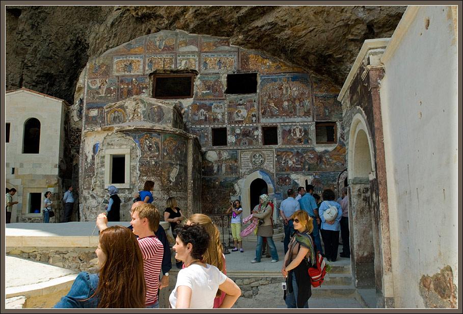 People in the Sumela monastery