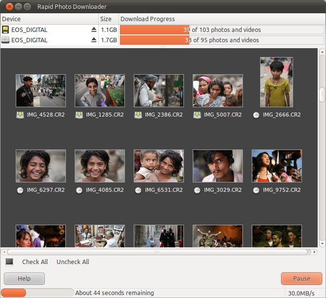 Download images in parallel