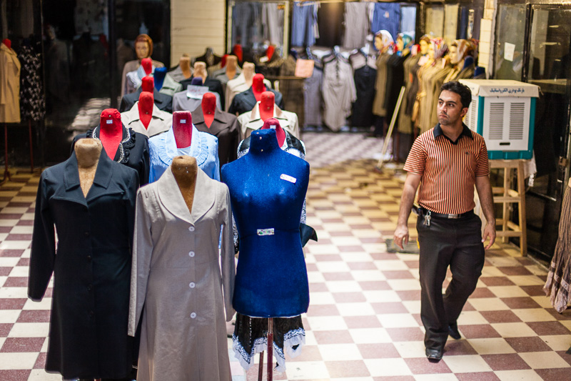 Man beside female mannequins - Shiraz