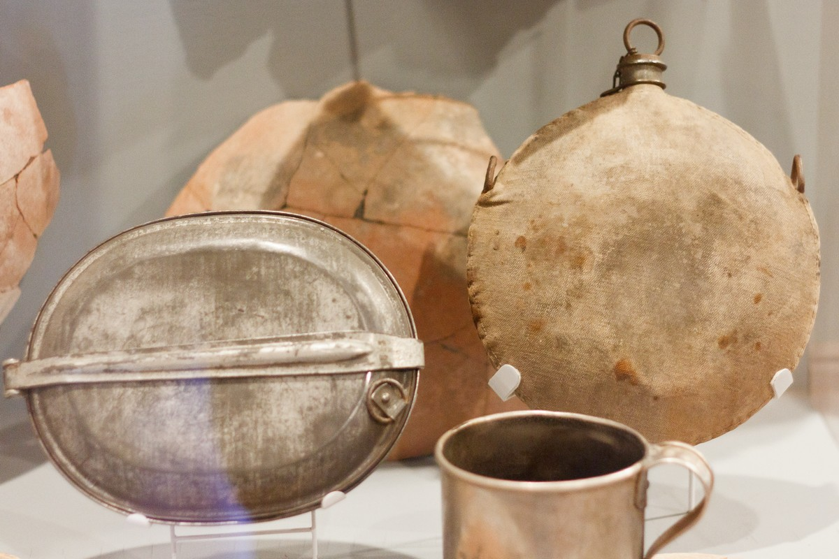 19th century Ft. Selden artifacts in the monuments museum