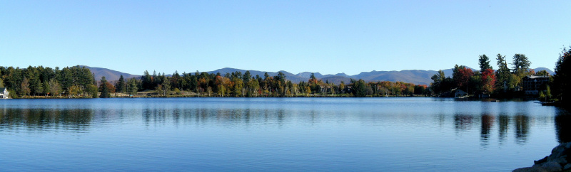 Adirondack High Peaks from Mirror Lake