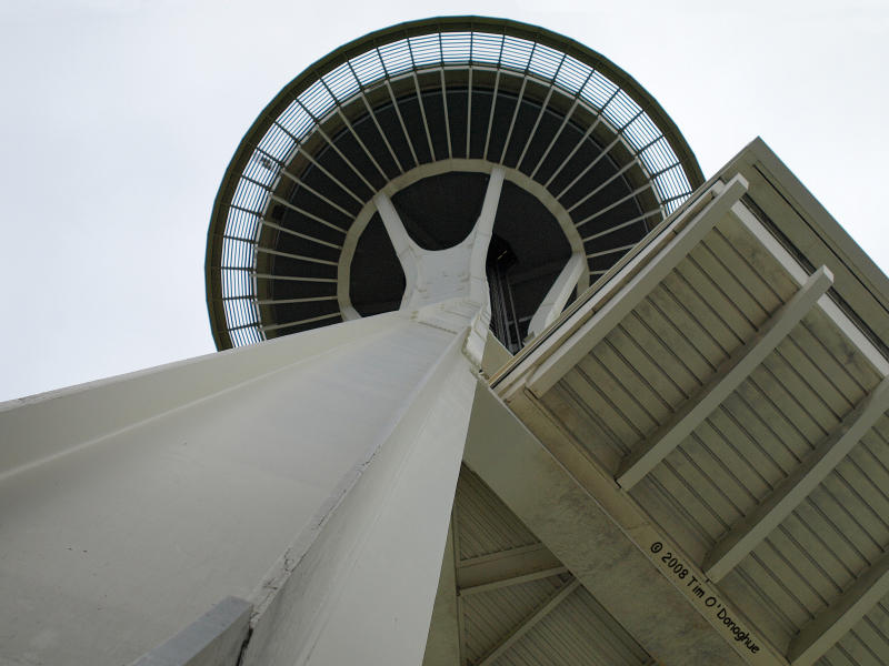 Standing on the Toes of the Space Needle