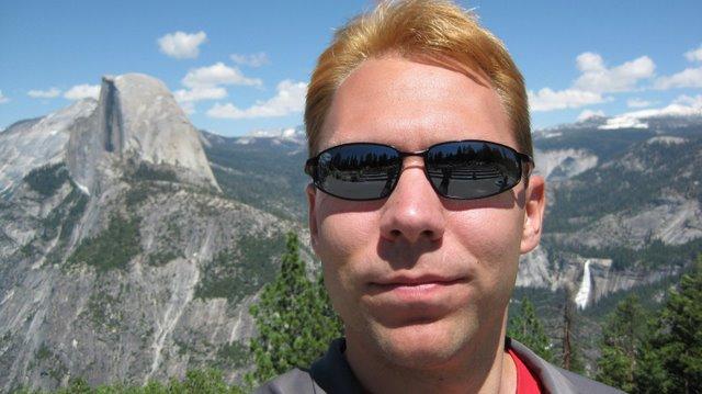 Self portrait at Glacier Point in Yosemite National Park