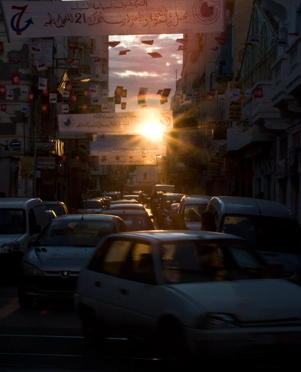 <B>Evening Traffic</B> <BR><FONT SIZE=2>Tunis, Tunisia - November 2008</FONT>