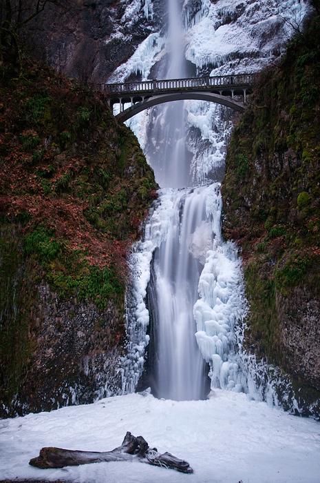 Multnomah Falls, Winter Study #5a