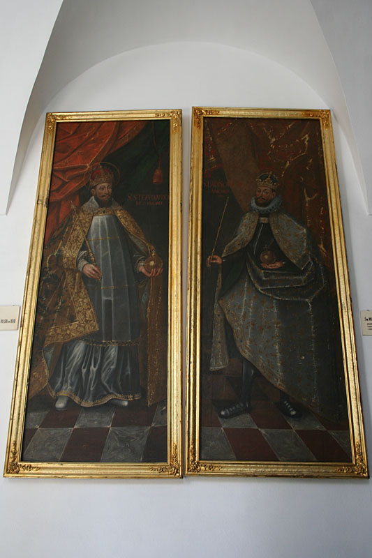 Paintings inside The Knights Hall