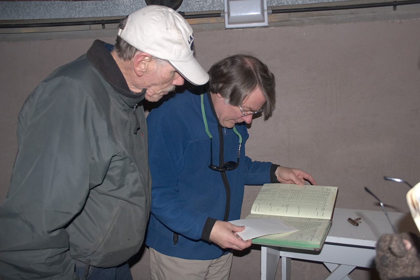 Burnhams co-worker on the Proper Motion Survey, Norm Thomas&Brian Skiff, Research Astronomer at Lowell Observatory