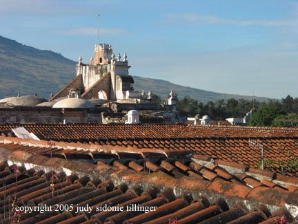 from the roof, antigua, guatemala