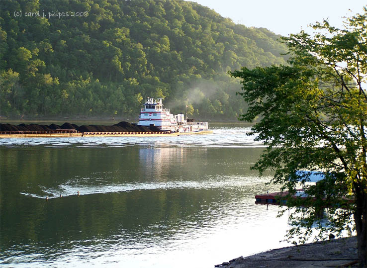 Tug Boat Pushing Coal.