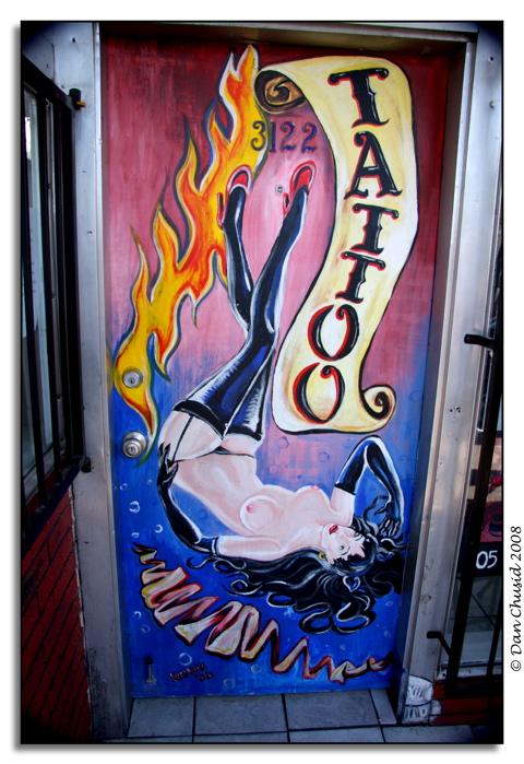 Tattoo Shop Door