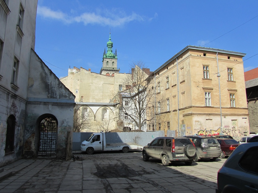 at the former synagogue sites in old town