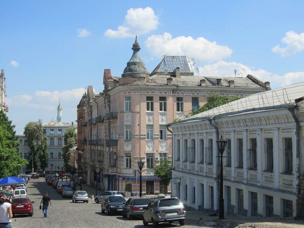 enjoying the architecture in Podil...