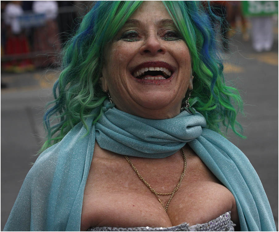 Lady laughing