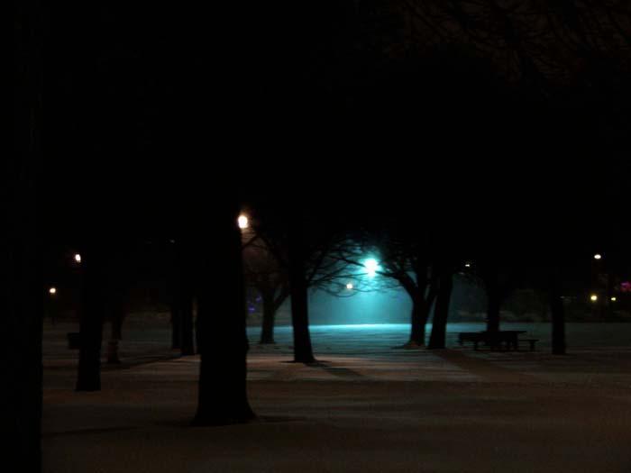 light on a still, cold night.