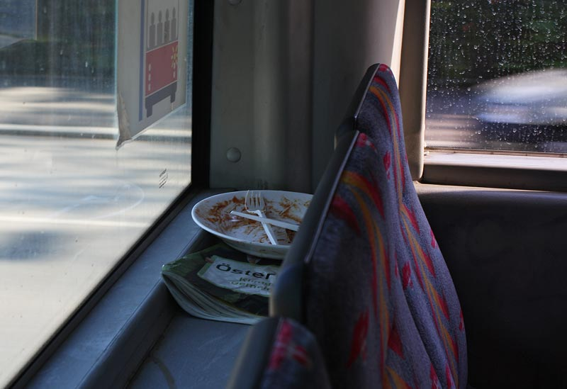 Lunch in Bus-Linie 48