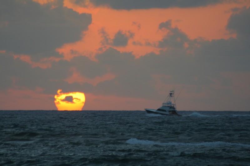 Sunrise Ocean Boat