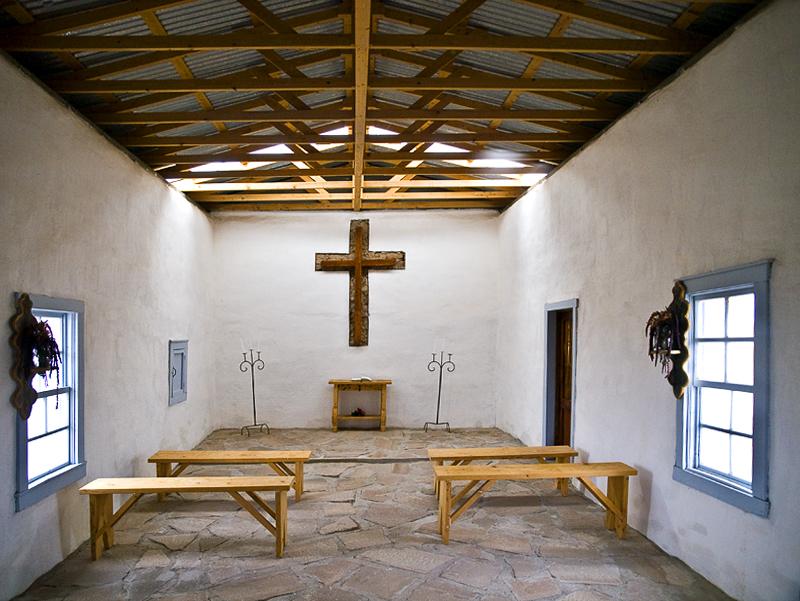 Interior of little chapel.