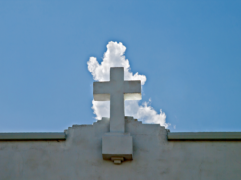 Cross and cloud, Marfa, Texas