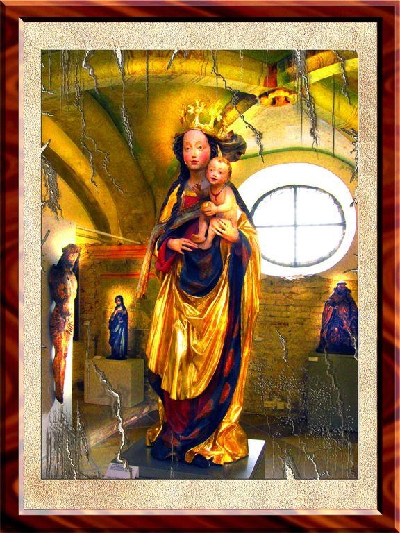 XIV Century Madonna in Regensburg, Bayern, Germany