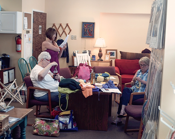 Yarn shop ladies