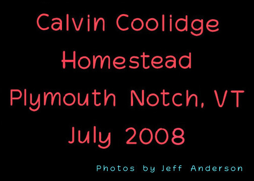 Calvin Coolidge Homestead, Plymouth Notch, VT cover page