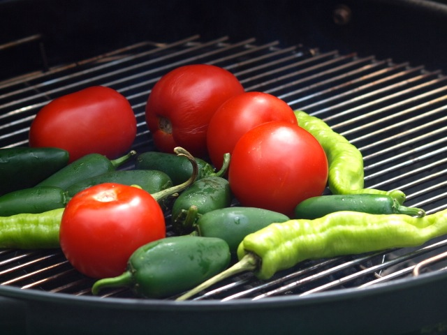 Roasting Chiles for Salsa