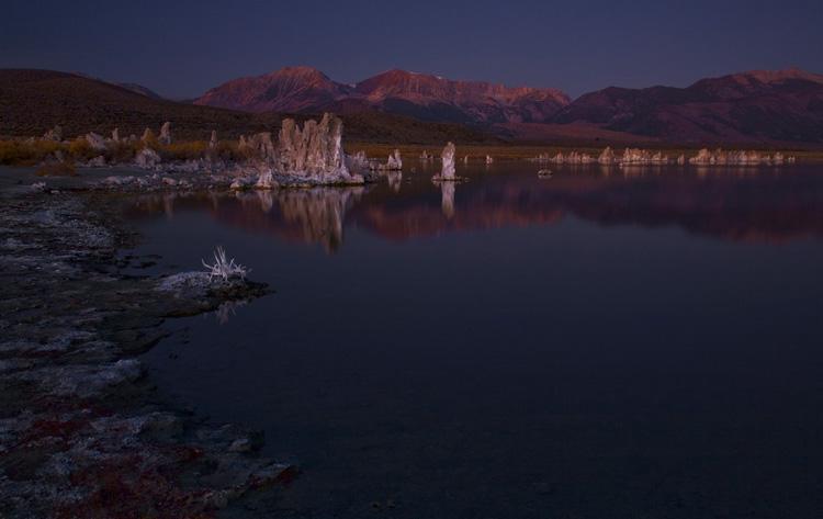 First Light Hits the Tufas at Mono Lake