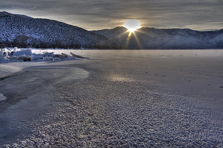 Winter on Lake Washoe.