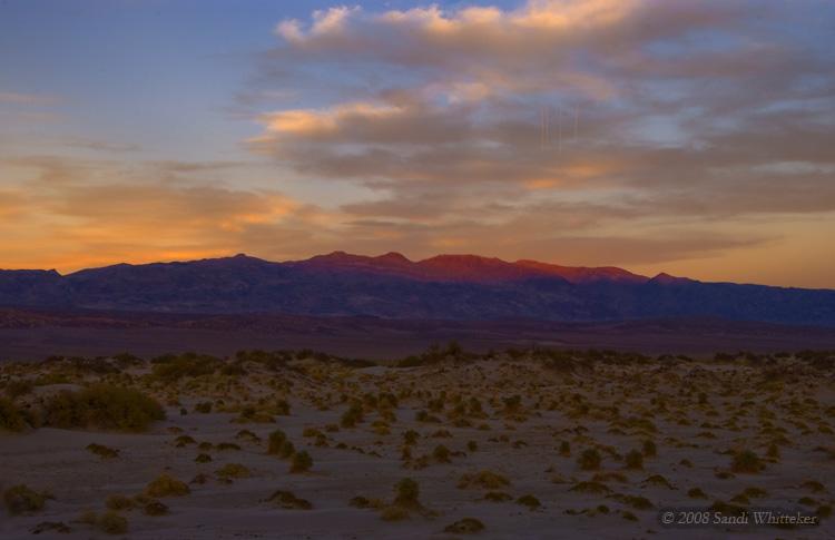 Sunset Starting Over the Desert
