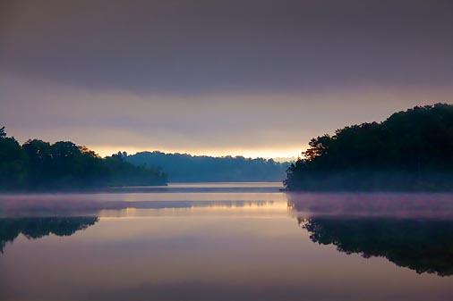 Lifting Fog At Sunrise 21588