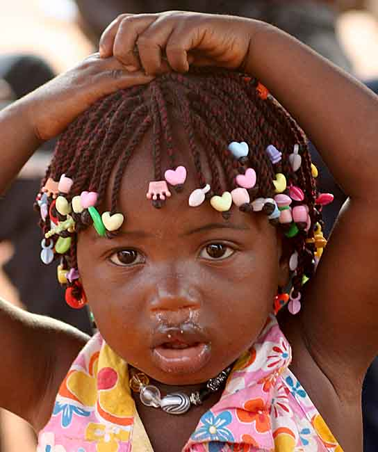 Little girl in Benin.