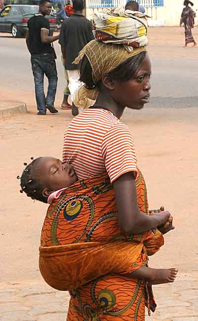 Mother and child in Benin.