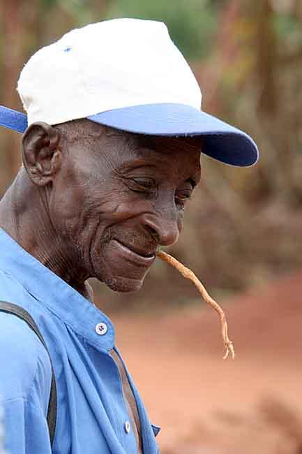 Old man in Benin.