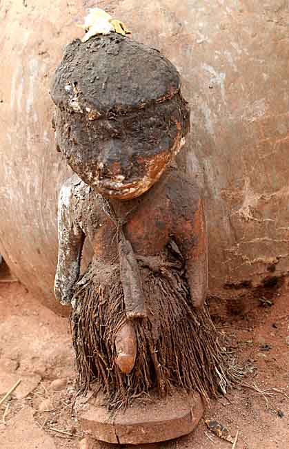 Fetish at a voodoo priest´s house in Abomey.