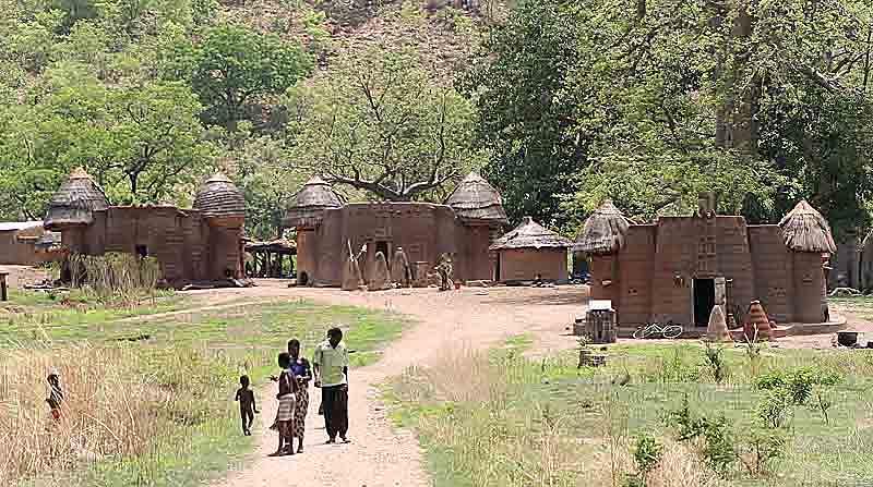 Tamberma village in the north of Togo. Unesco World Heritage Site.