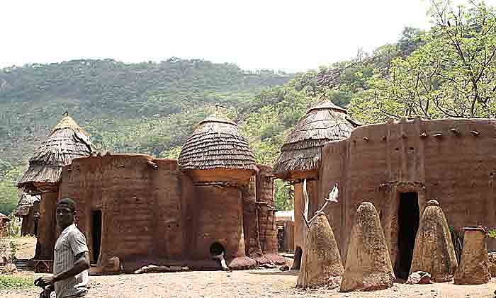 Tamberma. The houses are built in the form of Baobab trees.