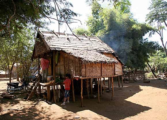 Kreung house in Kameng village, Cambodia.