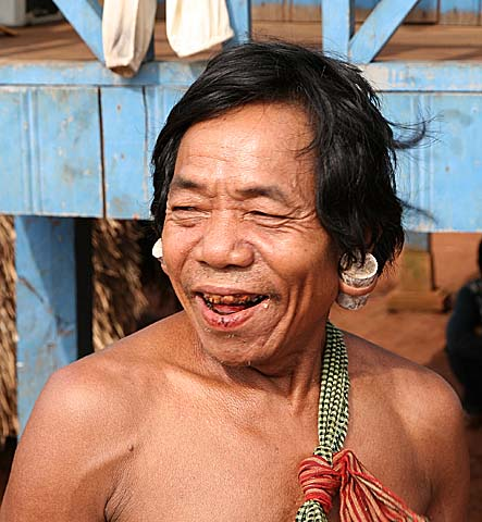 Phnong man. Pu Tang Village, Mondulkiri, Cambodia