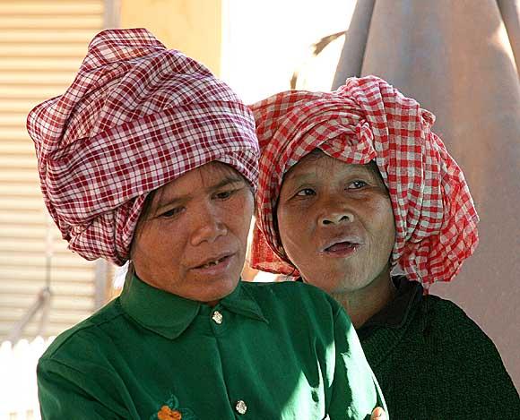 Kreung ladies in Banlung market, Cambodia.