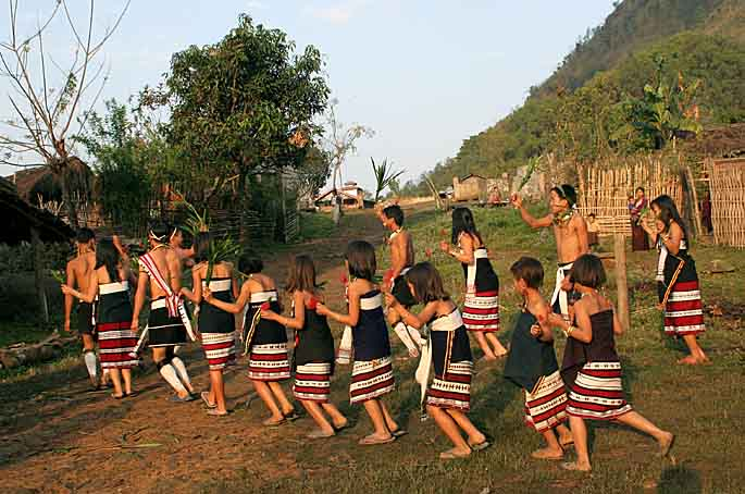 Zeme dancers, North Cachar Hills, Assam, India