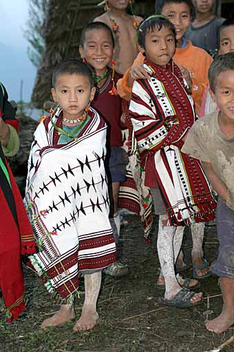 Zeme children, North Cachar Hills, Assam, India